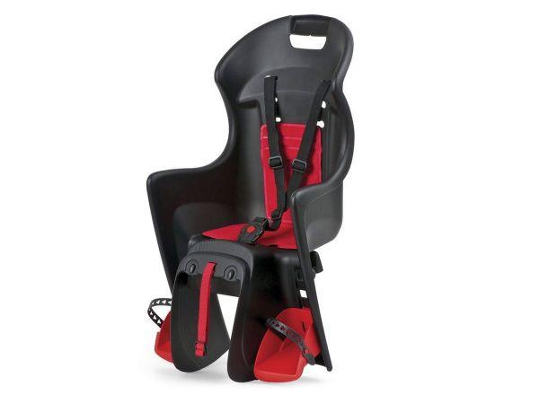 Polisport Boodie black/red Fahrrad Kindersitz Gepäckträger